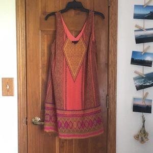 Patterned flowy dress